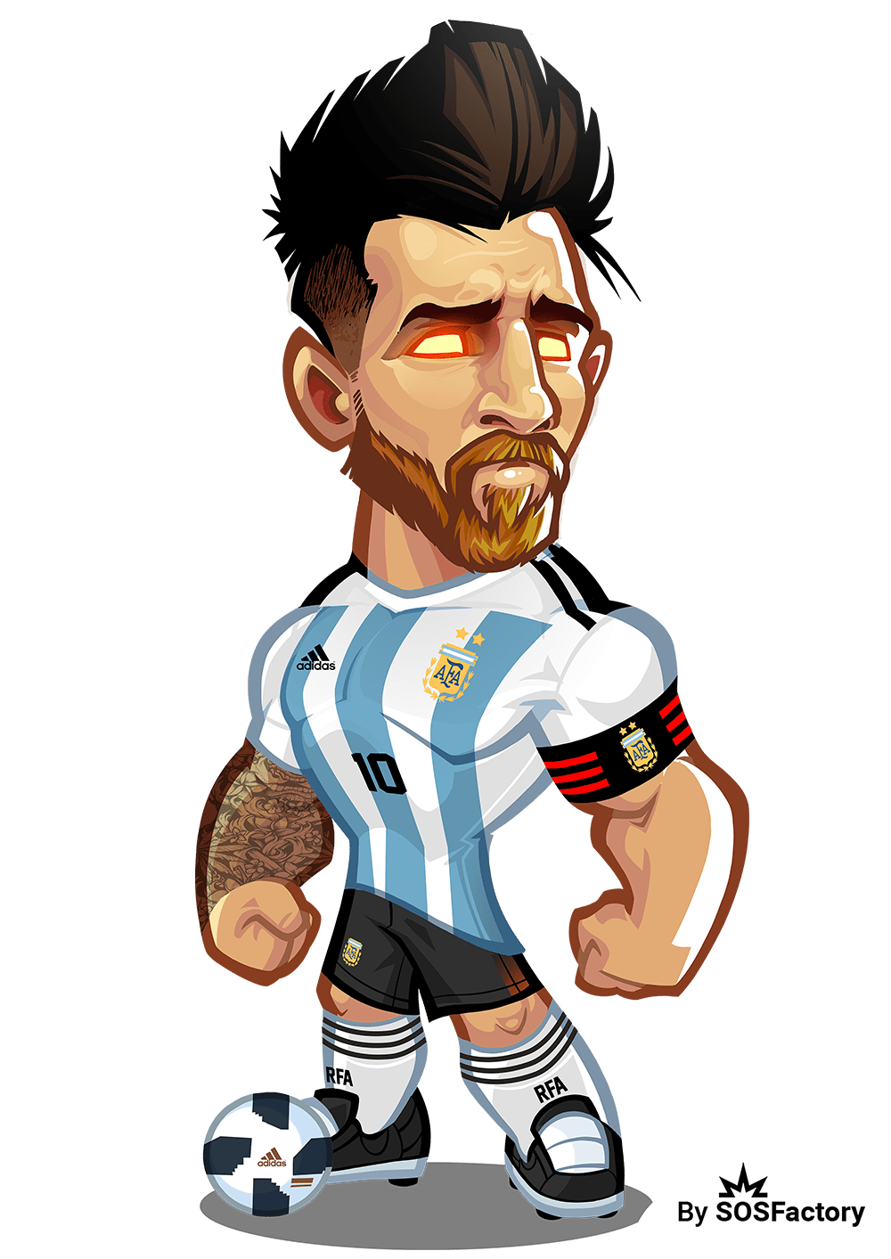 Worldcup russia mascotization project. Drawing messi cr7 image download
