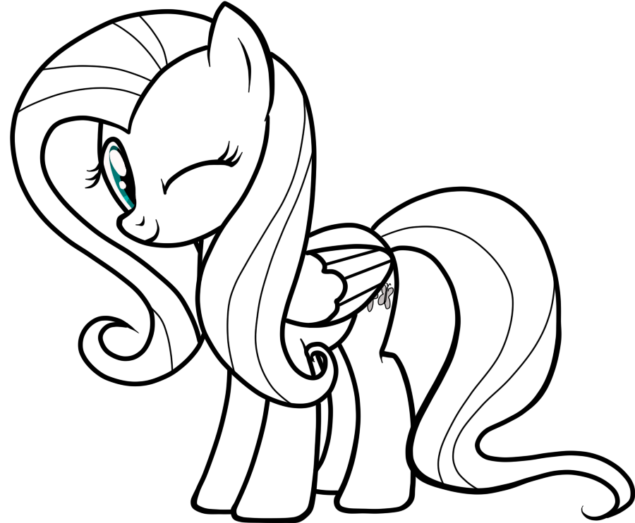 Drawing messi vizatim. Fluttershy line art by