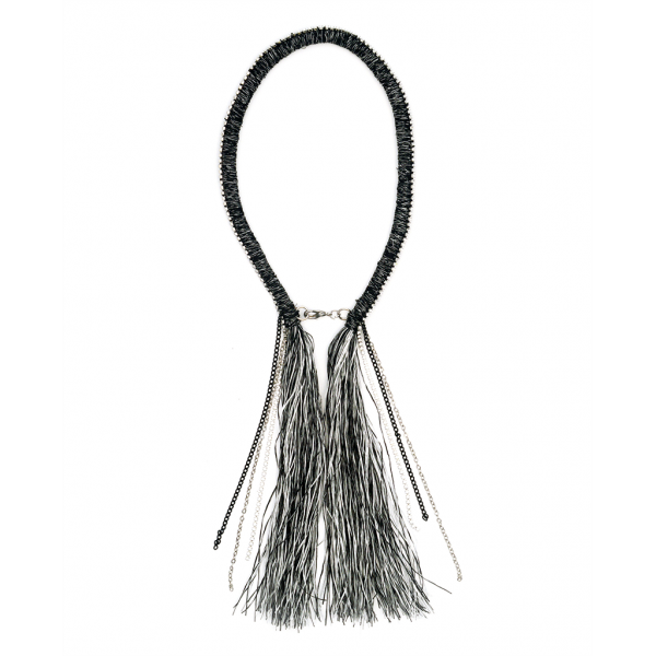 Drawing methods jewelry. Into the fray necklace