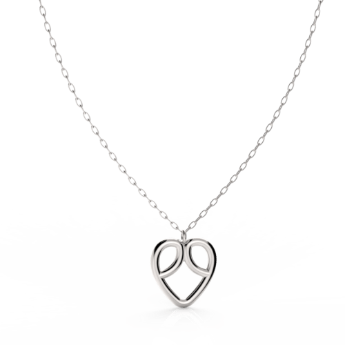 Drawing methods jewelry. Necklaces mikoska heart necklace