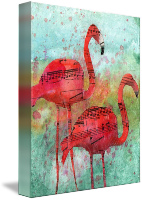 Drawing methods mix media. Mixed collage flamingo eight