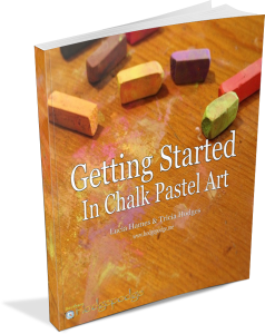 Getting started in chalk. Pastels drawing simple clip art