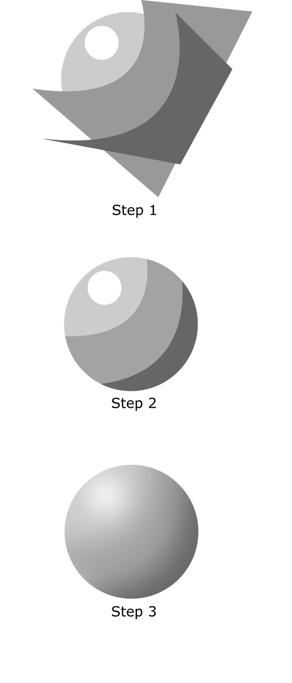 Drawing sphere shading. Inkscape tutorial by x