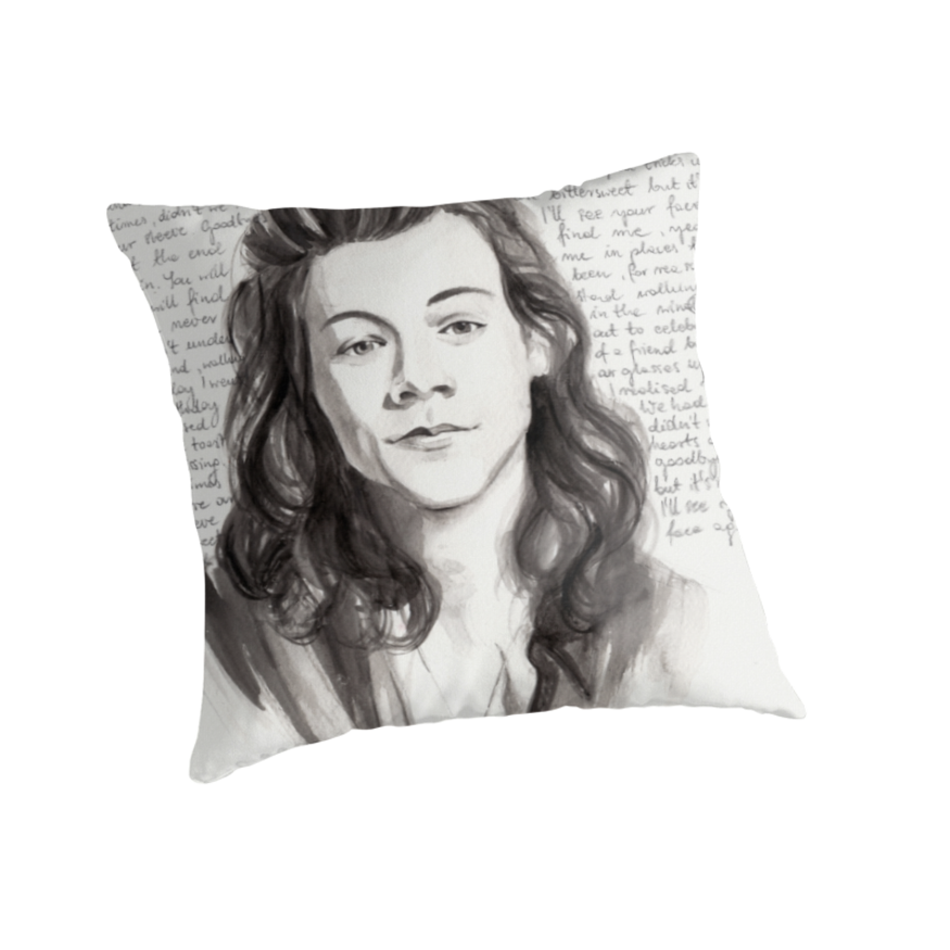 Drawing methods watercolor. Harry styles portrait by
