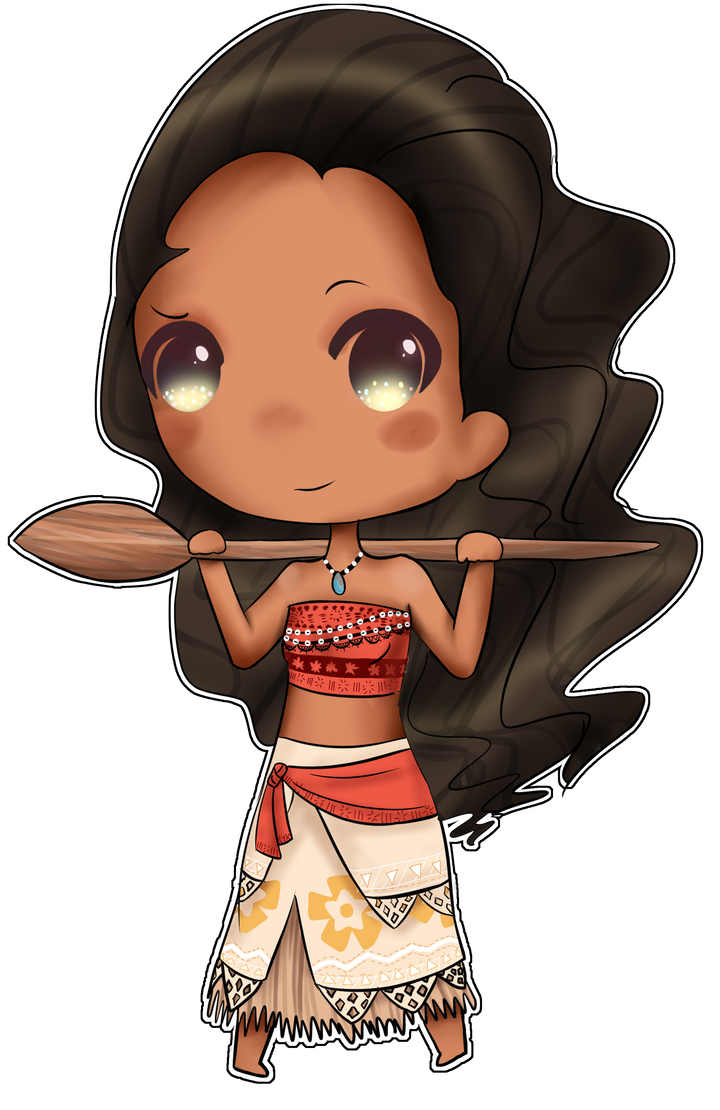 Drawing moana chibi. By hamsterkitty on deviantart