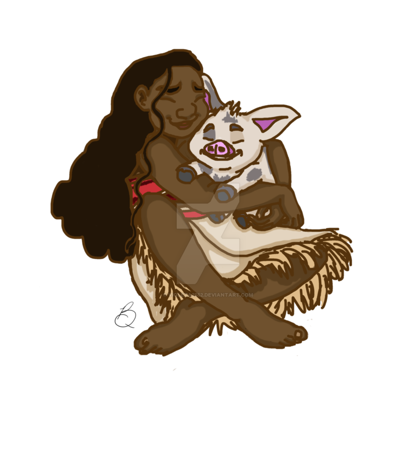 Drawing moana animated. And pua by violeta