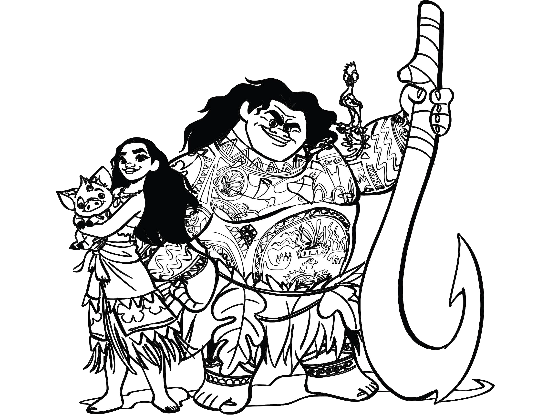 Drawing moana black and white. Graphic freeuse huge