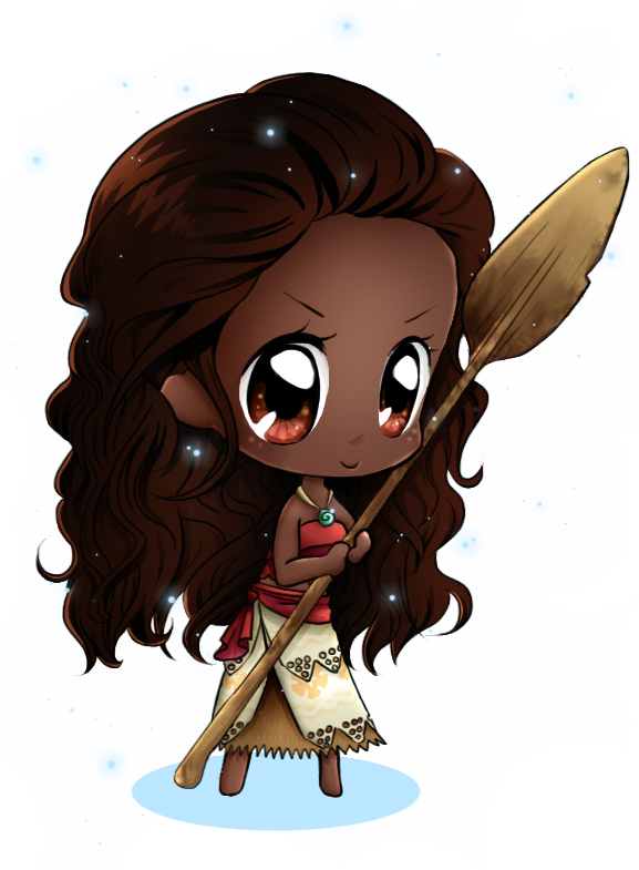 Drawing moana cartoon. Chibi by anniflamma on