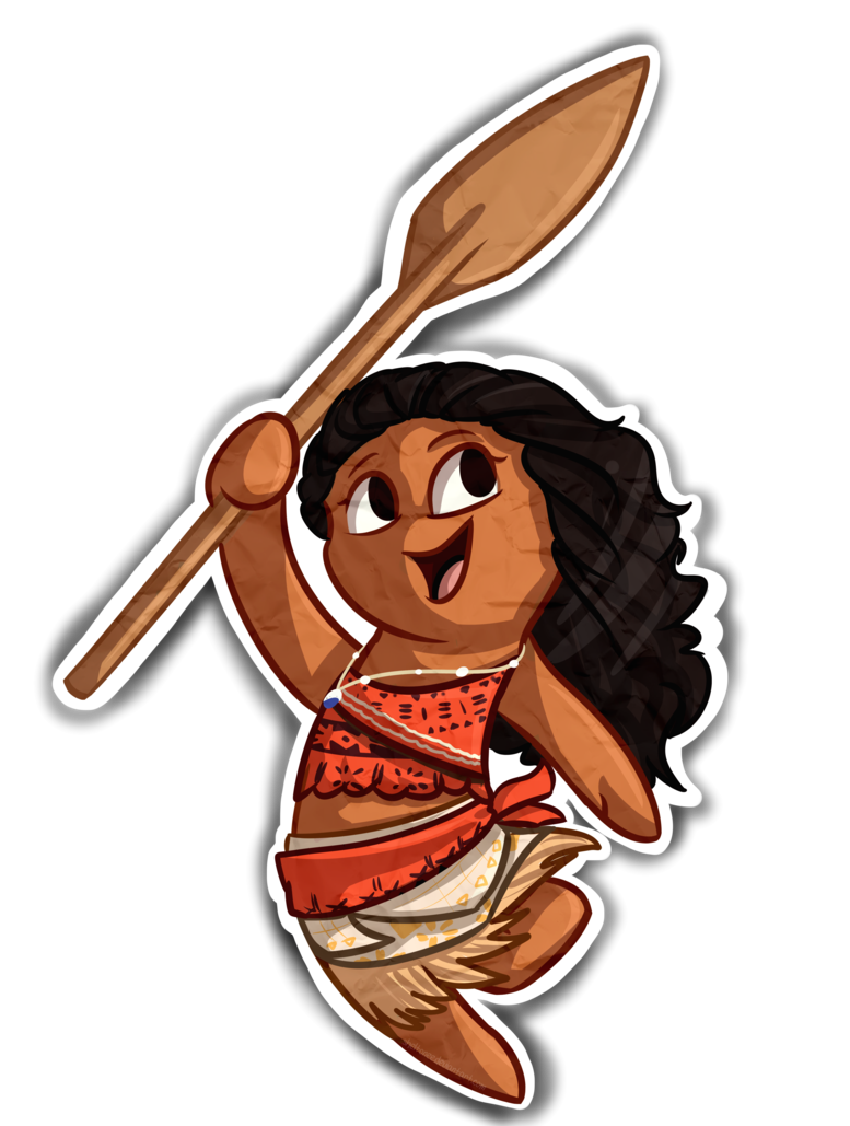 Drawing moana chibi. By sheltonee on deviantart