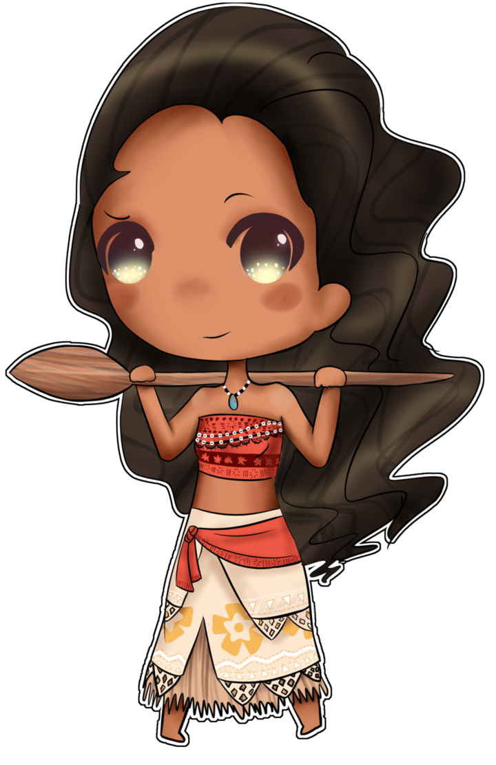 Drawing moana cute. Chibi by hamsterkitty on
