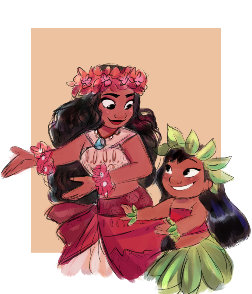 Drawing moana shading. New friends by irlsealpup