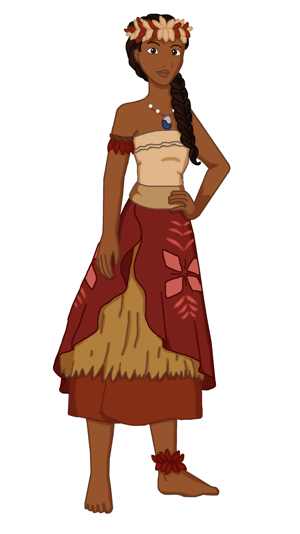 Drawing moana outfit. Disney ball series waialiki