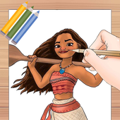 Drawing moana step by. Lessons apk download free