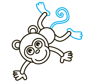 Drawing monkeys. How to draw a