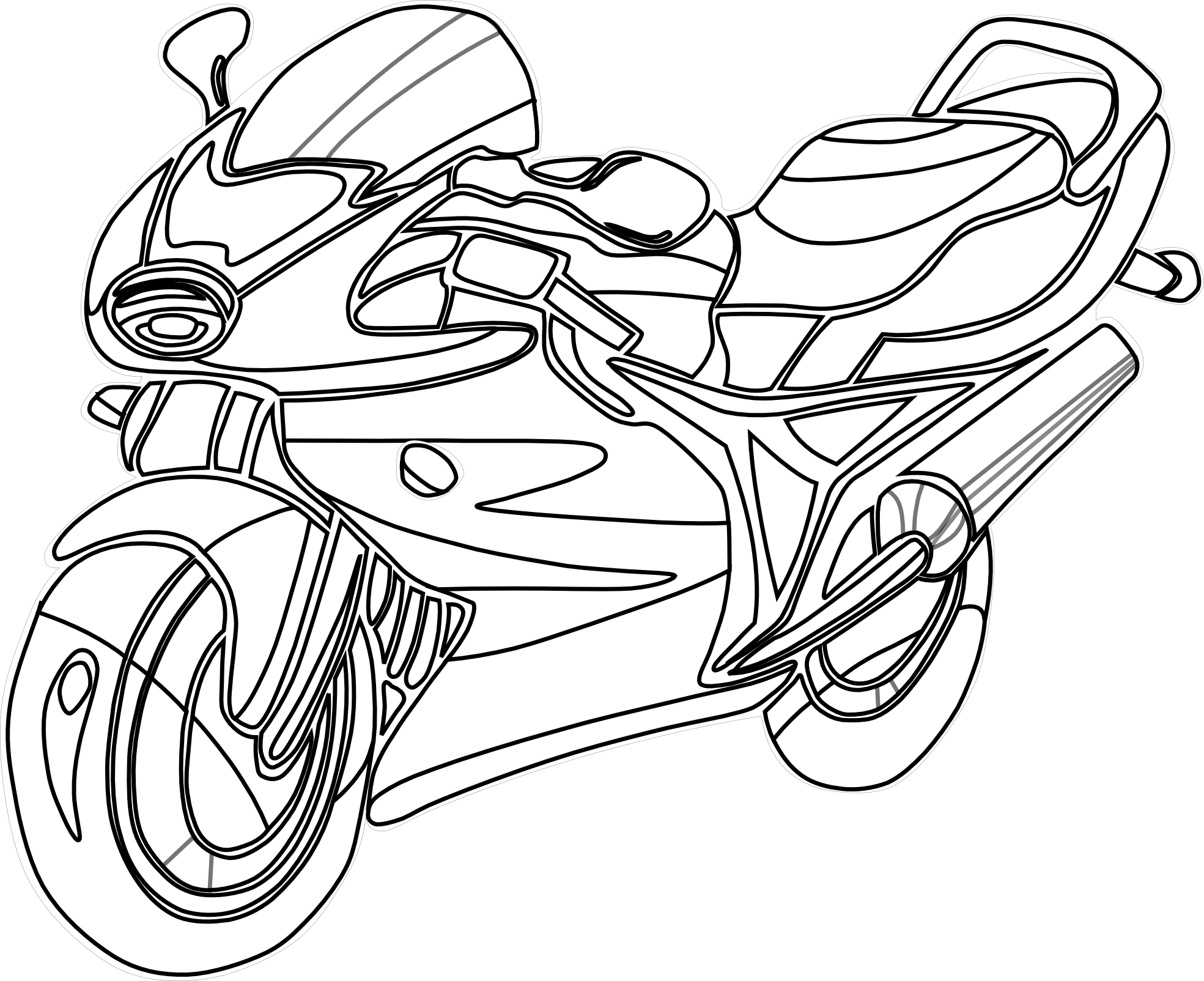 Atv drawing coloring page. Motorcycle outline at getdrawings