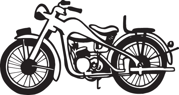 Drawing motorcycle chopper. Nice decal