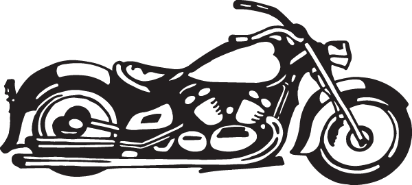 Drawing motorcycle chopper. Cool decal