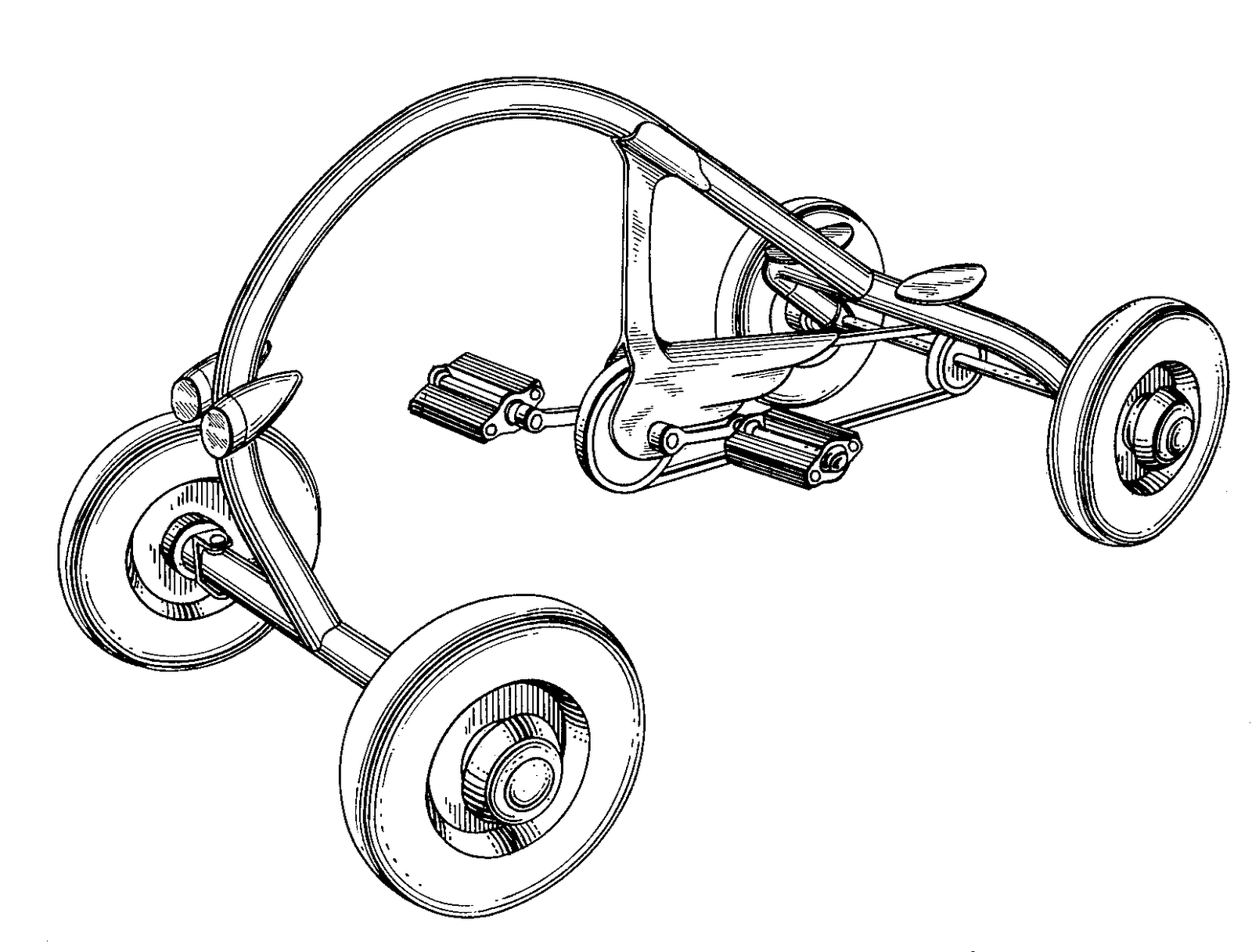 Drawing motorcycle front. The sum of all