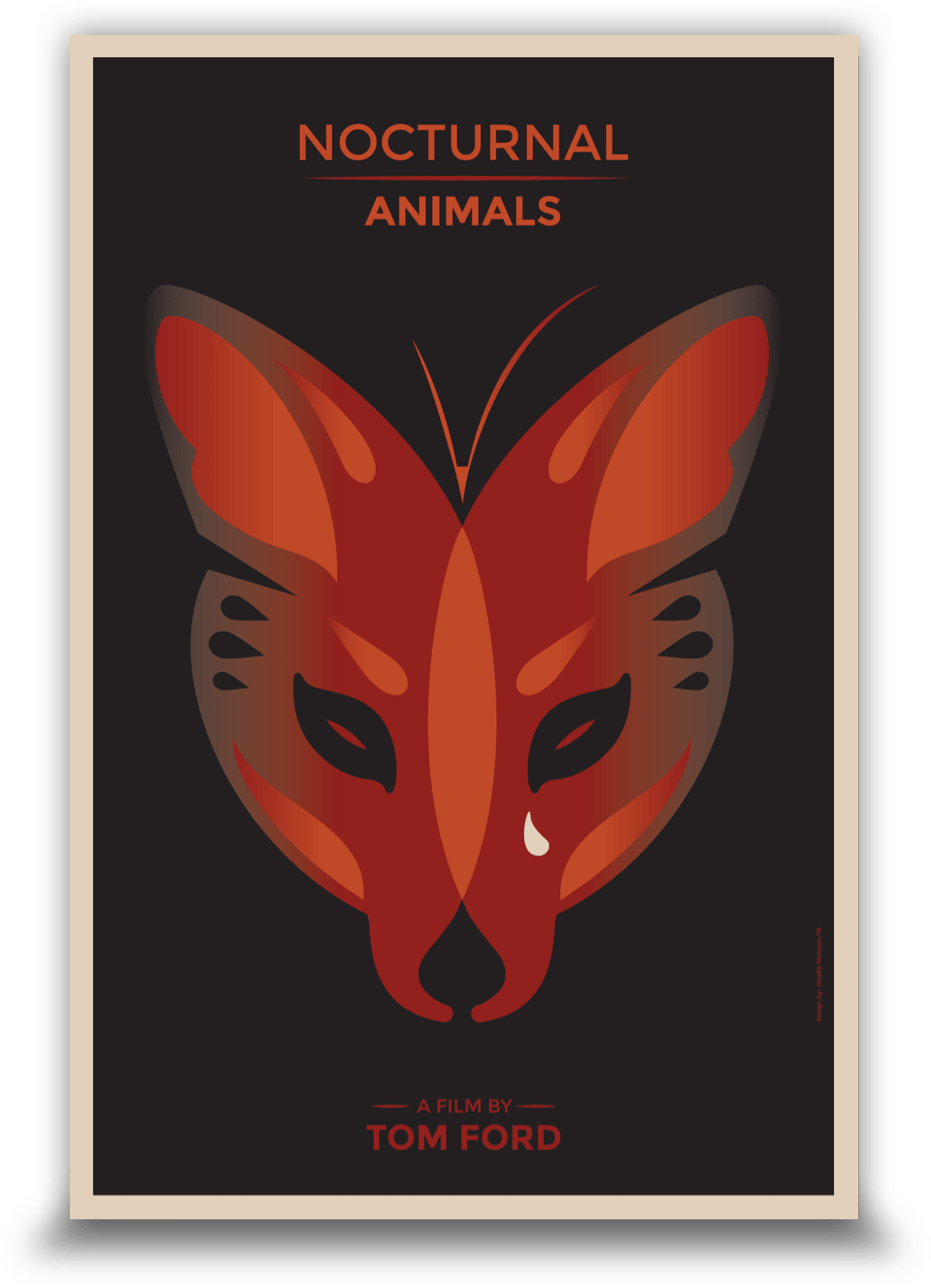 Drawing movie poster. To celebrate nocturnal animals