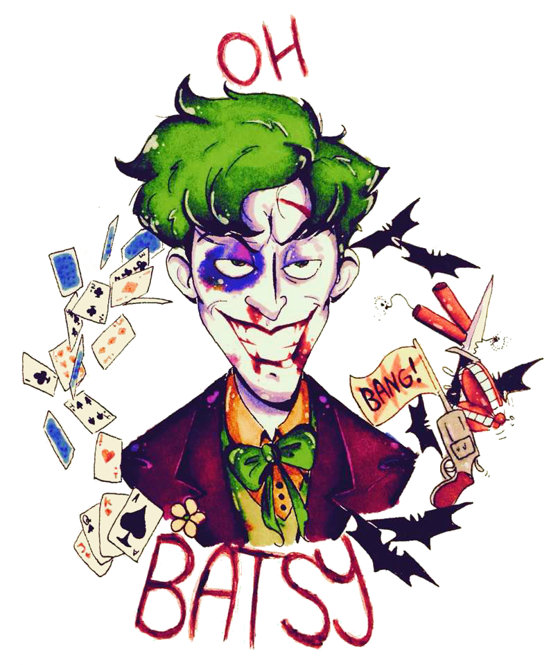 J drawing joker. Babe by sketchingtherain on