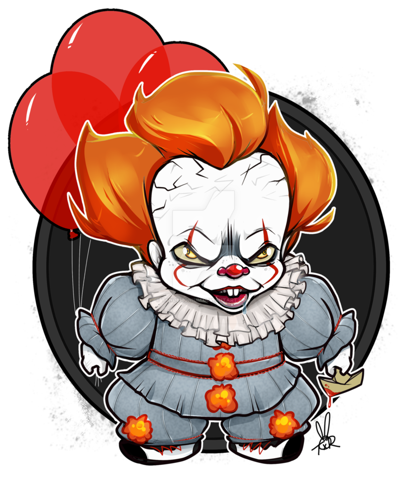 Spiders drawing pennywise. Chibi by tandemonium on