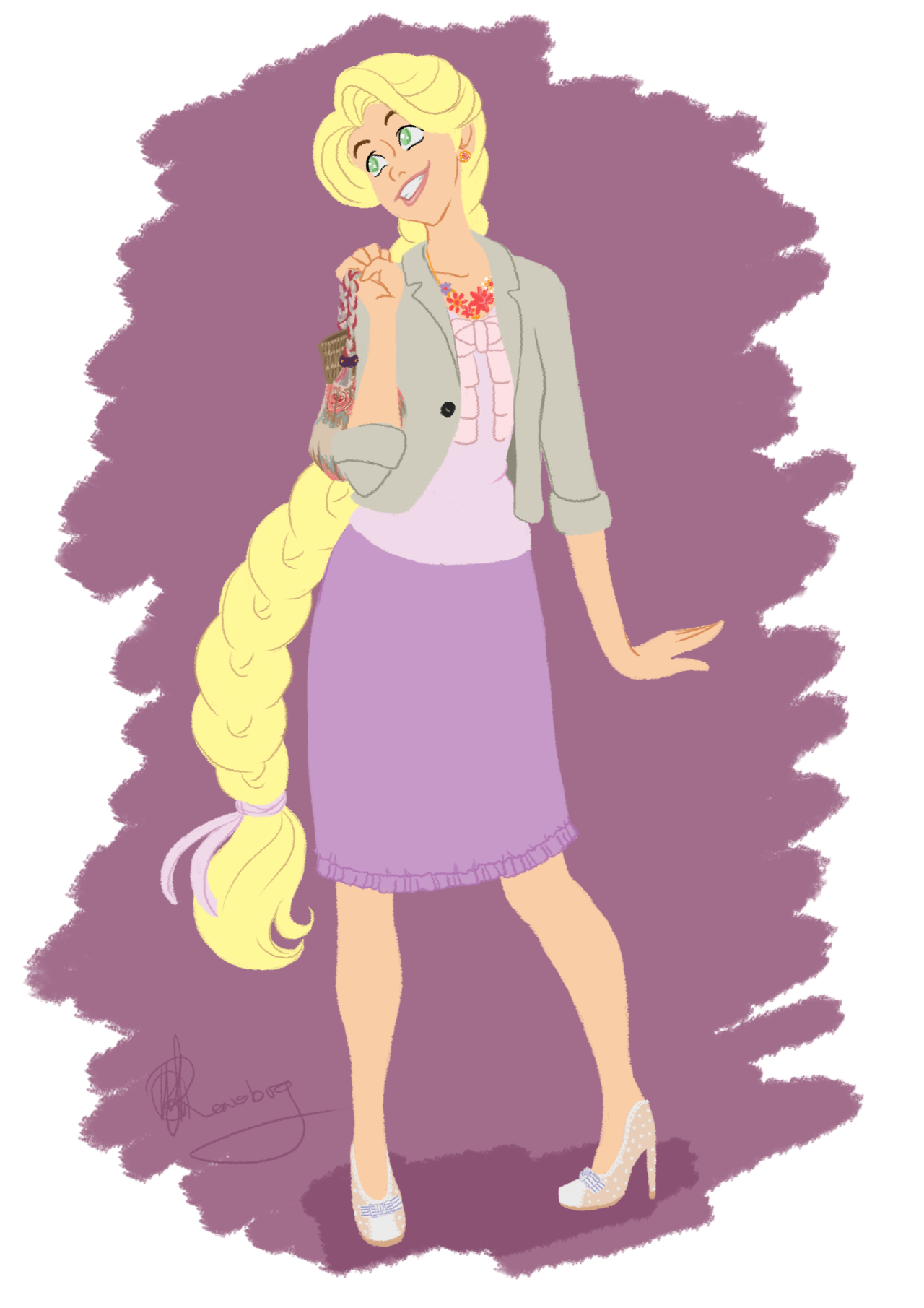 Drawing movies tangled. Rapunzel by tella in