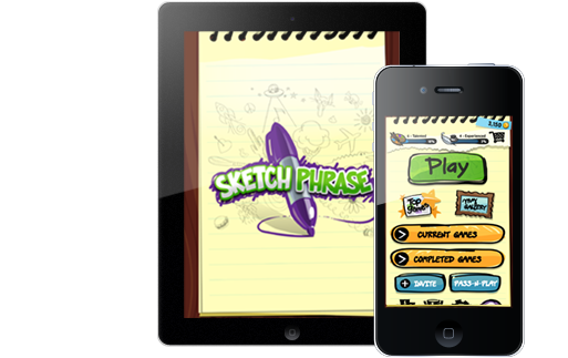 Drawing multiplayer app. Sketch phrase image