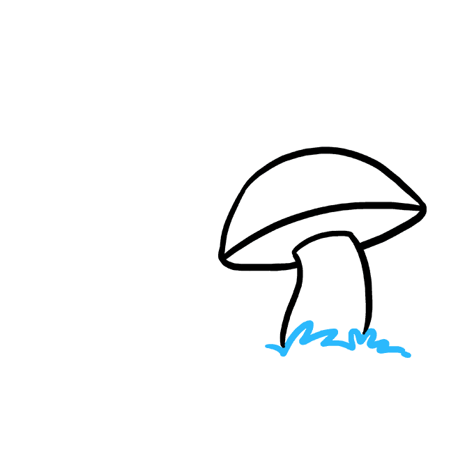 Drawing mushrooms. How to draw a