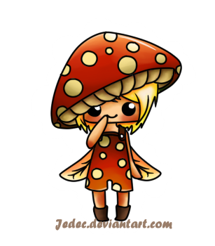 Drawing mushrooms chibi. Bitty mushroom by jedec