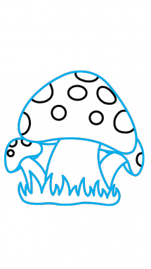 Drawing mushrooms easy. How to draw a