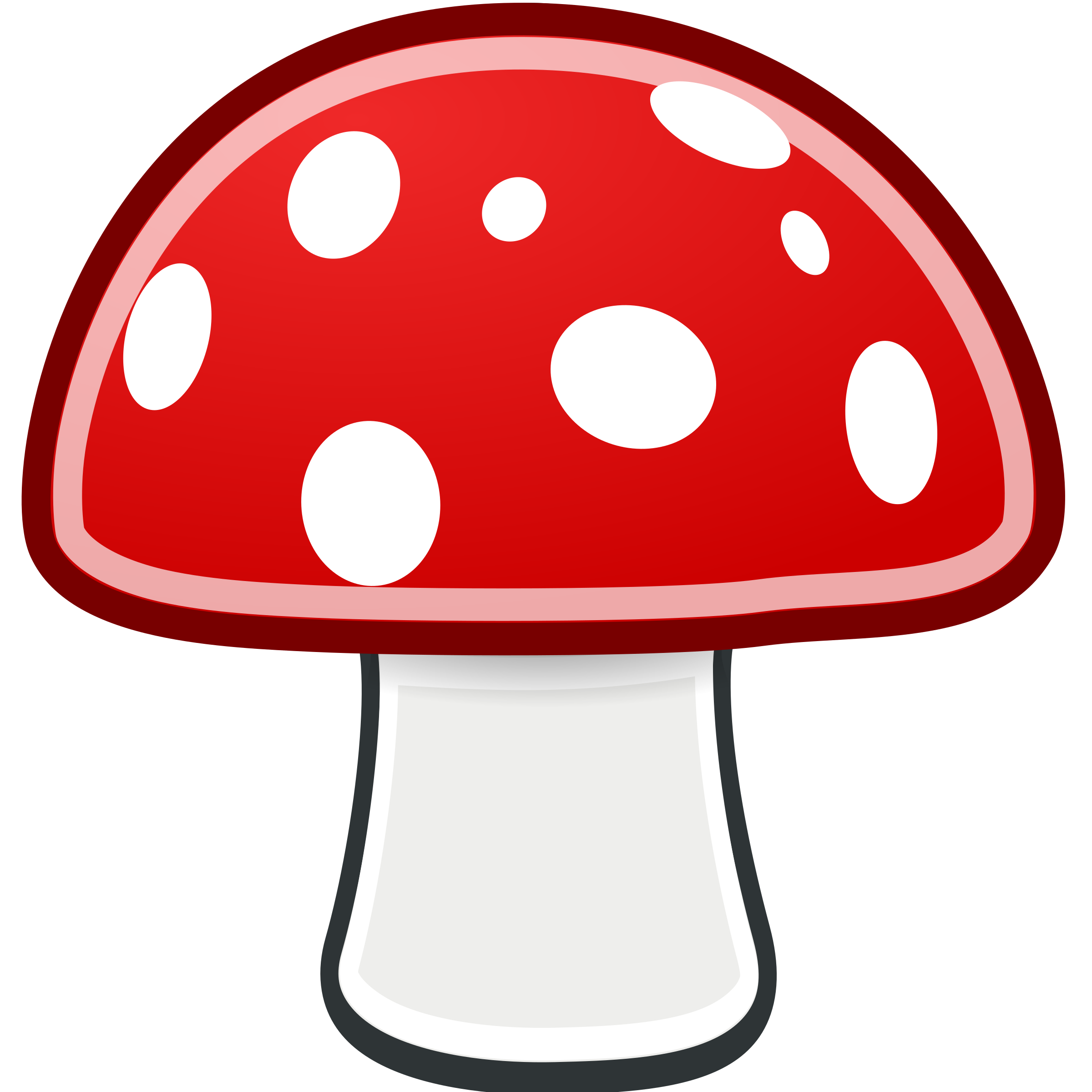 Drawing mushrooms happy. Collection of free fungian