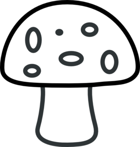 Drawing mushrooms simple. Mushroom template black and