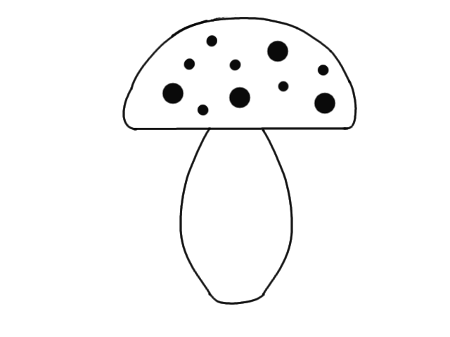 Drawing shrooms step by. How to draw a