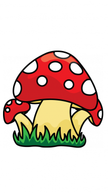 Mushrooms vector. How to draw a