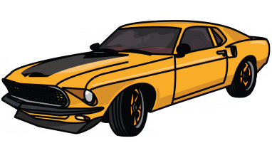 drawing mustang ford