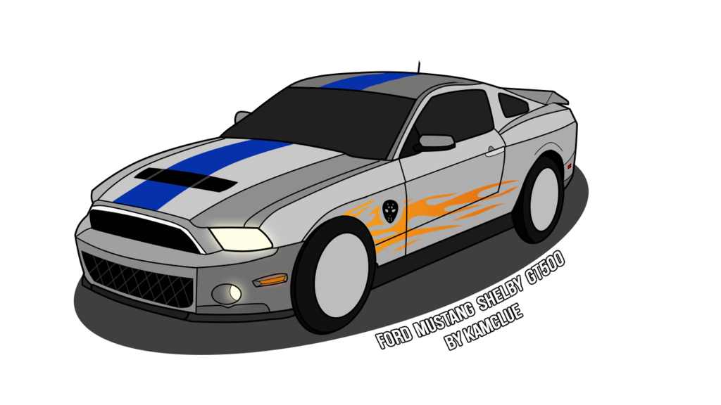 Drawing mustang. Ford shelby gt by
