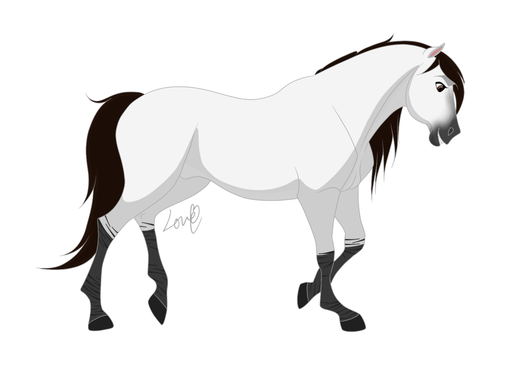 Drawing mustang animal. Mallory is her name