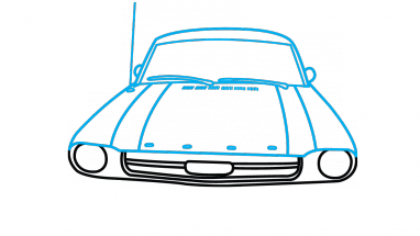 Drawing mustang easy. How to draw ford