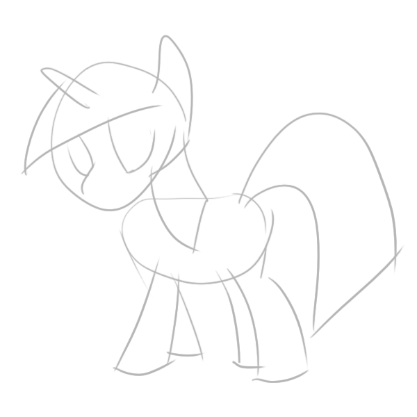 Drawing tv outline. Twilight sparkle tutorial with
