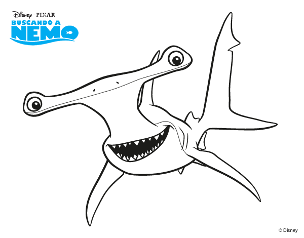 Drawing nemo shark. Finding coloring pages google