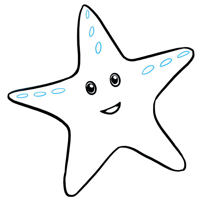 Drawing starfish easy. How to draw a