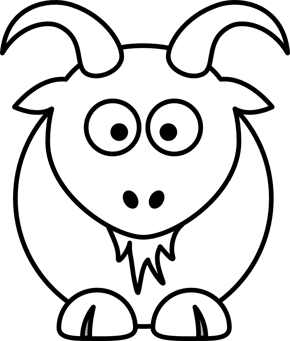 Drawing goats cartoon. Goat at getdrawings com