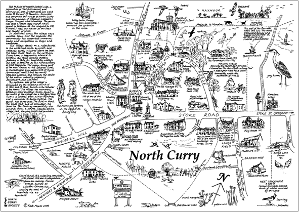 Curry map by kate. Drawing north clip black and white