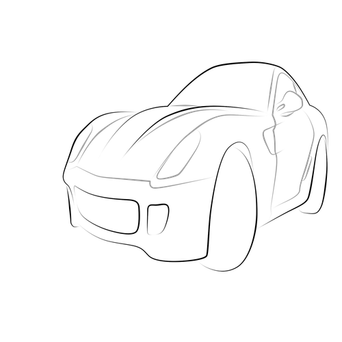 Drawing object academic. Red car how to