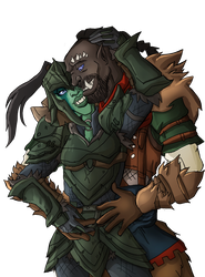 Drawing orcs. Skyrim orc cuddles by