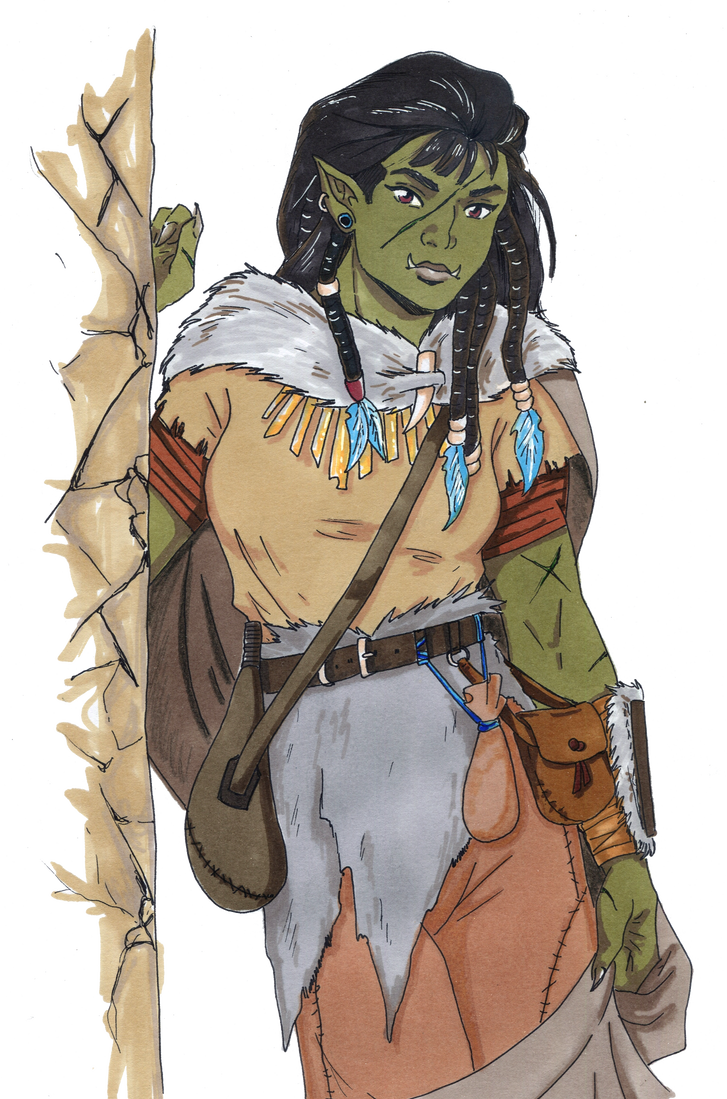 Drawing orcs orc sketch. Dnd half druid by