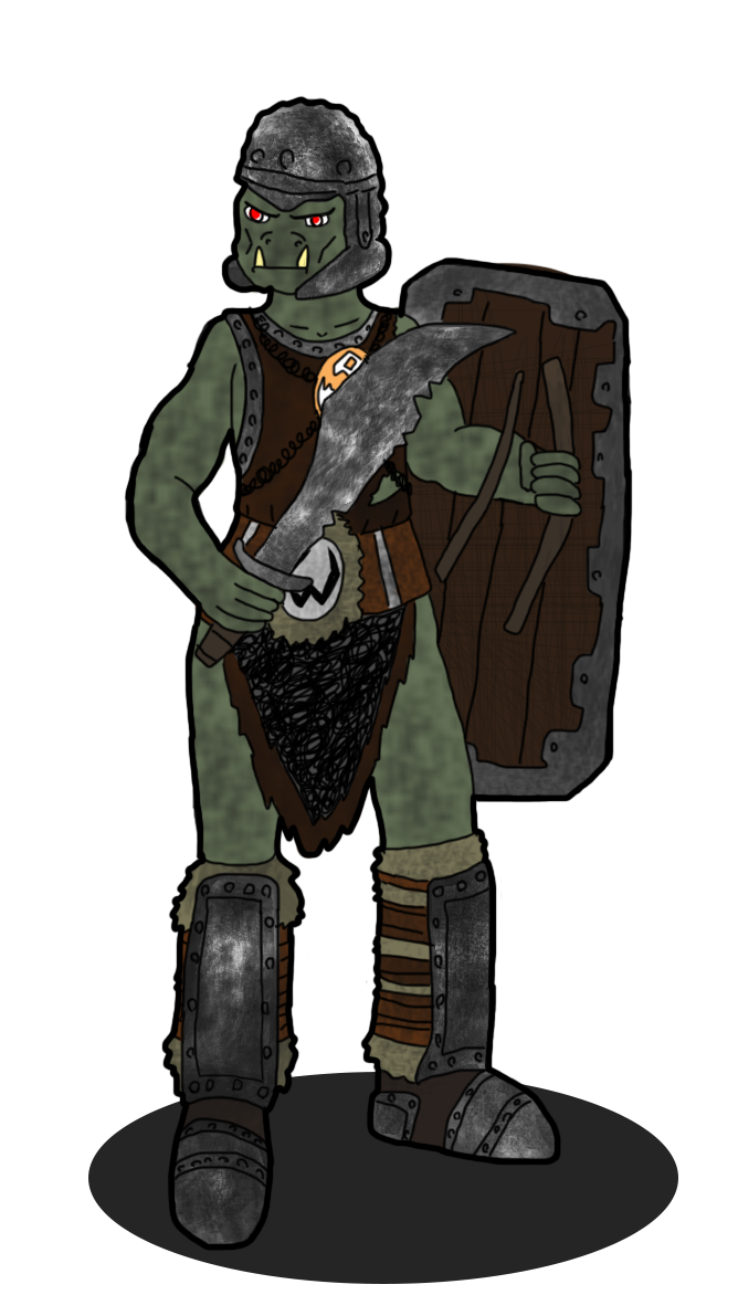 Drawing orcs orc warrior. Orctober lego castle by