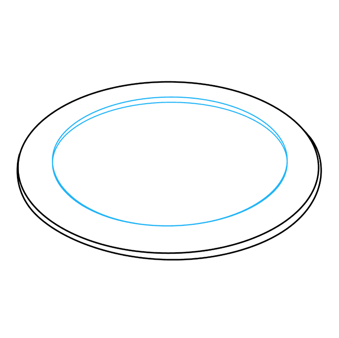Oval drawing egg. How to draw bacon