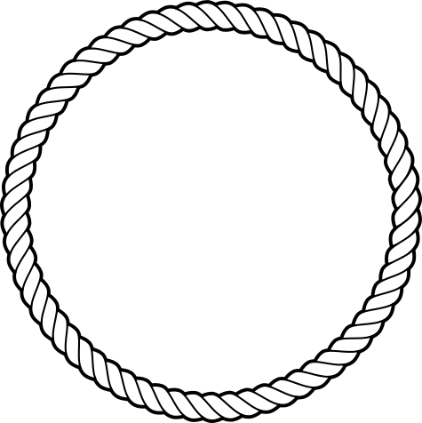 Drawing oval rope. Lasso clip art