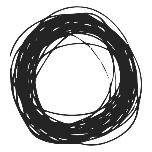Drawing ovals scribble. Thick circle transparent png